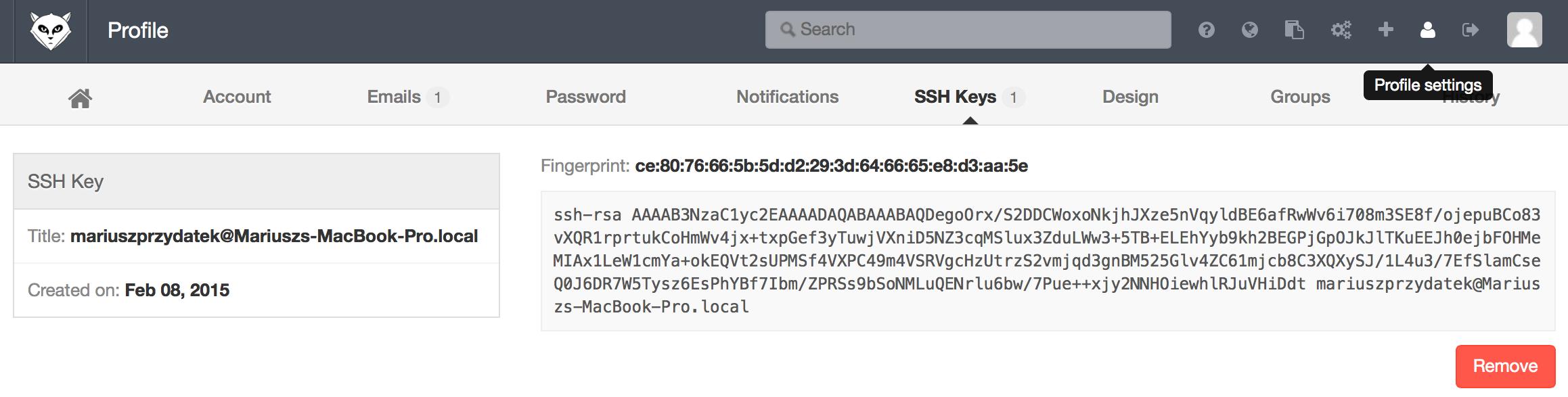 gitlab ssh key windows 7